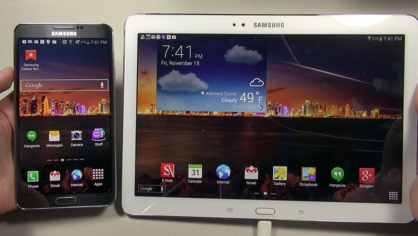 Galaxy Note 10.1 (2014 Edition): PHONE vs. TABLET