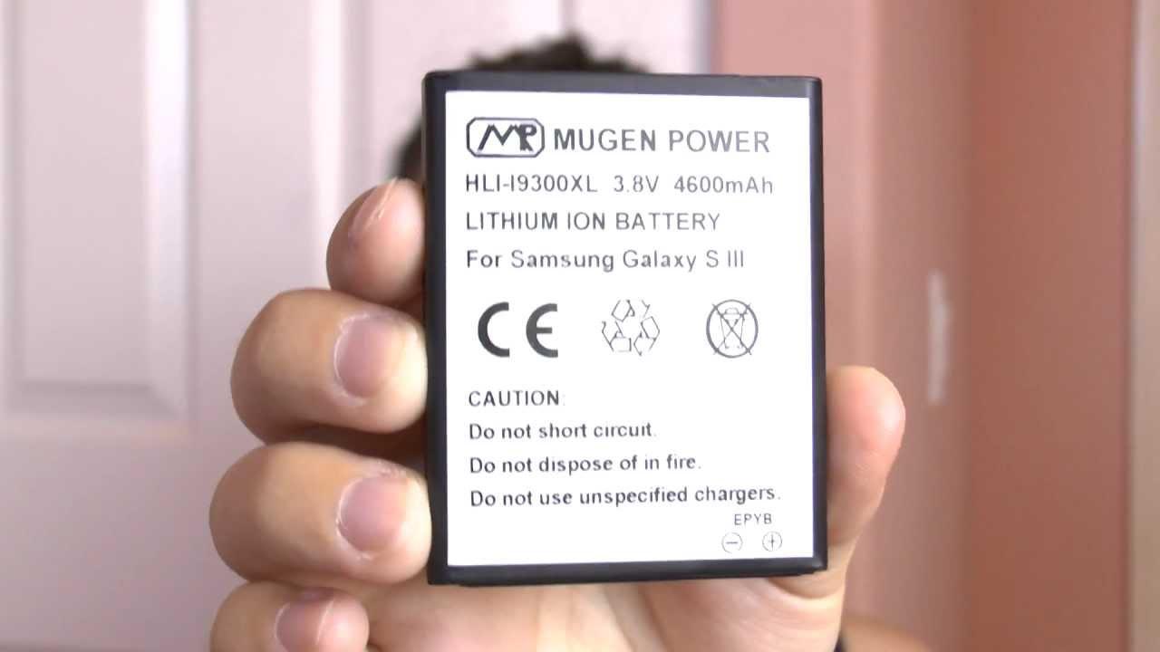 *MUGEN POWER* – Galaxy S3 4600mah Extended Battery