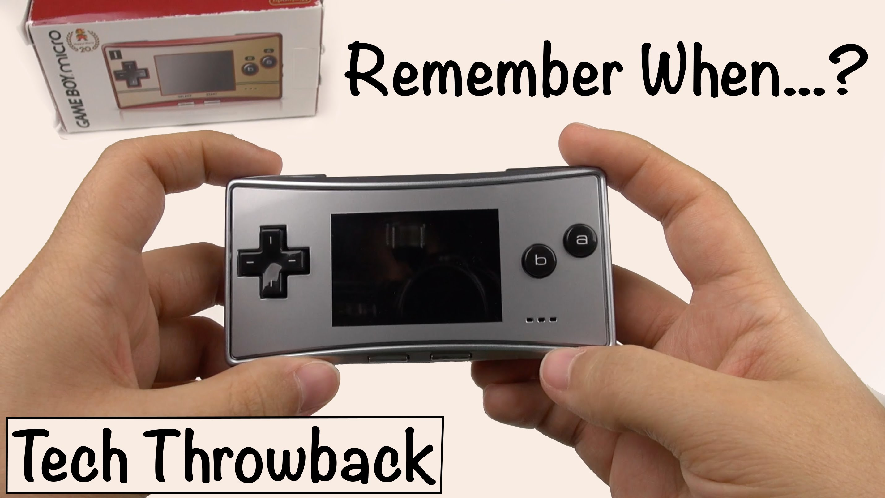 """Tech Throwback"": Gameboy Micro (Episode 1)"